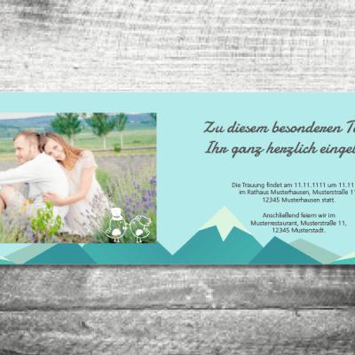 Hochzeit Berge  4-Seitig 148x105mm  ab 1,00 €