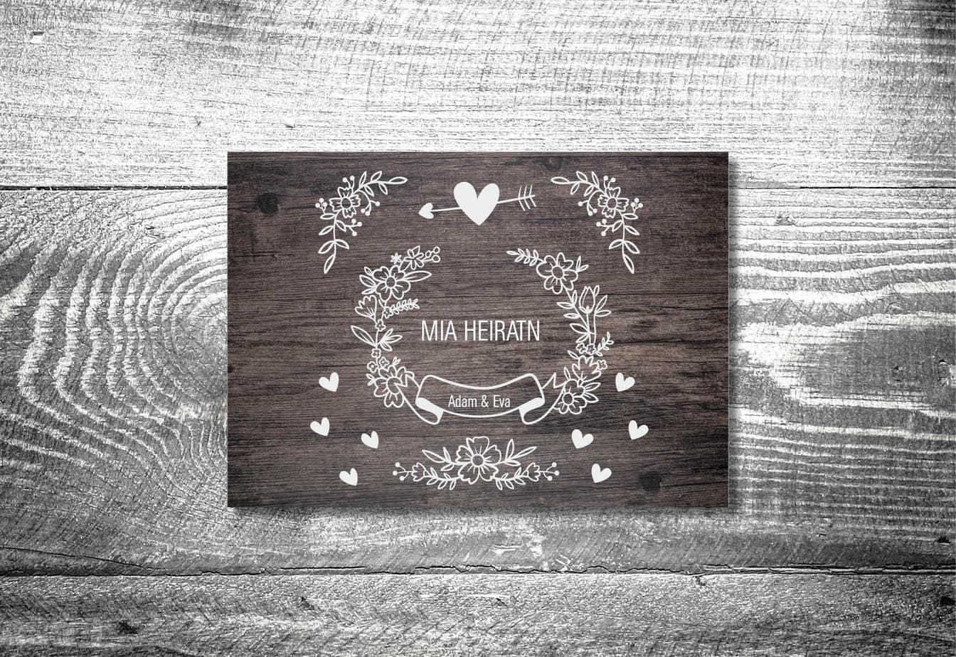 kartlerei karten drucken hochzeitseinladung heiraten bayern bayerisch heimatgefuehl hochzeit32 - Hochzeitskarten Set