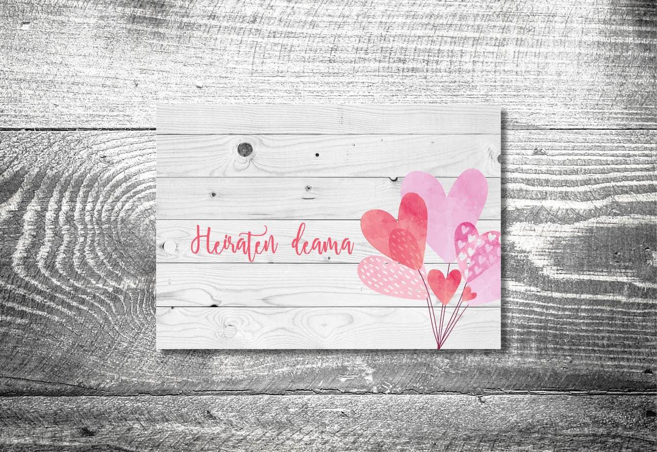 kartlerei karten drucken hochzeitseinladung heiraten bayern bayerisch heimatgefuehl hochzeit57 - Hochzeitskarten Set