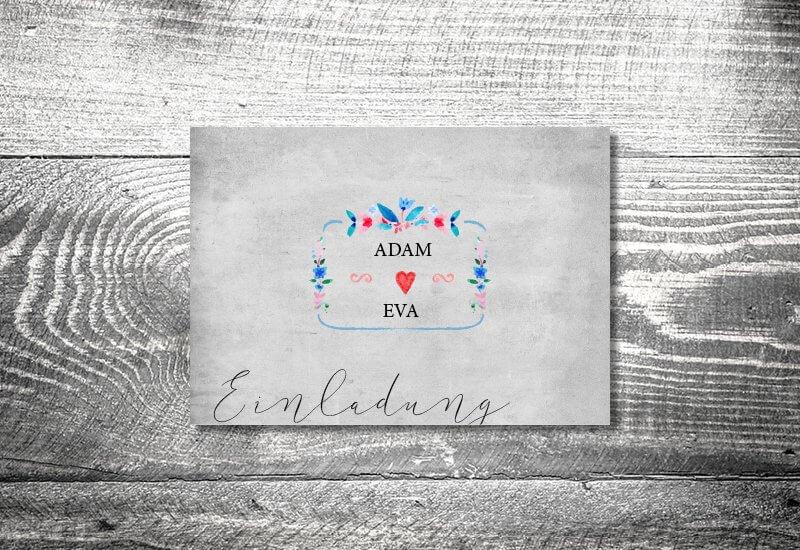 kartlerei hochzeit einladungskarten karten gestalten karten drucken hochzeitskarte 114 - Hochzeitskarten Set