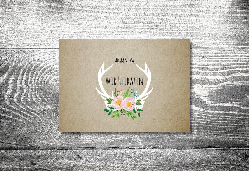 kartlerei hochzeit einladungskarten karten gestalten karten drucken hochzeitskarte 136 - Hochzeitskarten Set