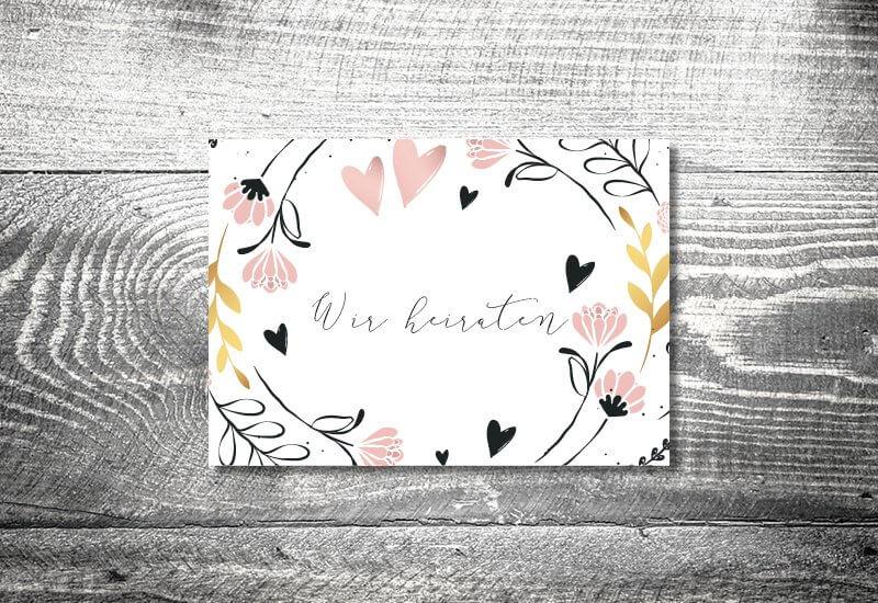 kartlerei hochzeit einladungskarten karten gestalten karten drucken hochzeitskarte 4 - Hochzeitskarten Set