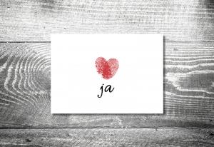 Einladung Hochzeit Fingerabdruck 1 300x206   Zeitplan Hochzeitskarten