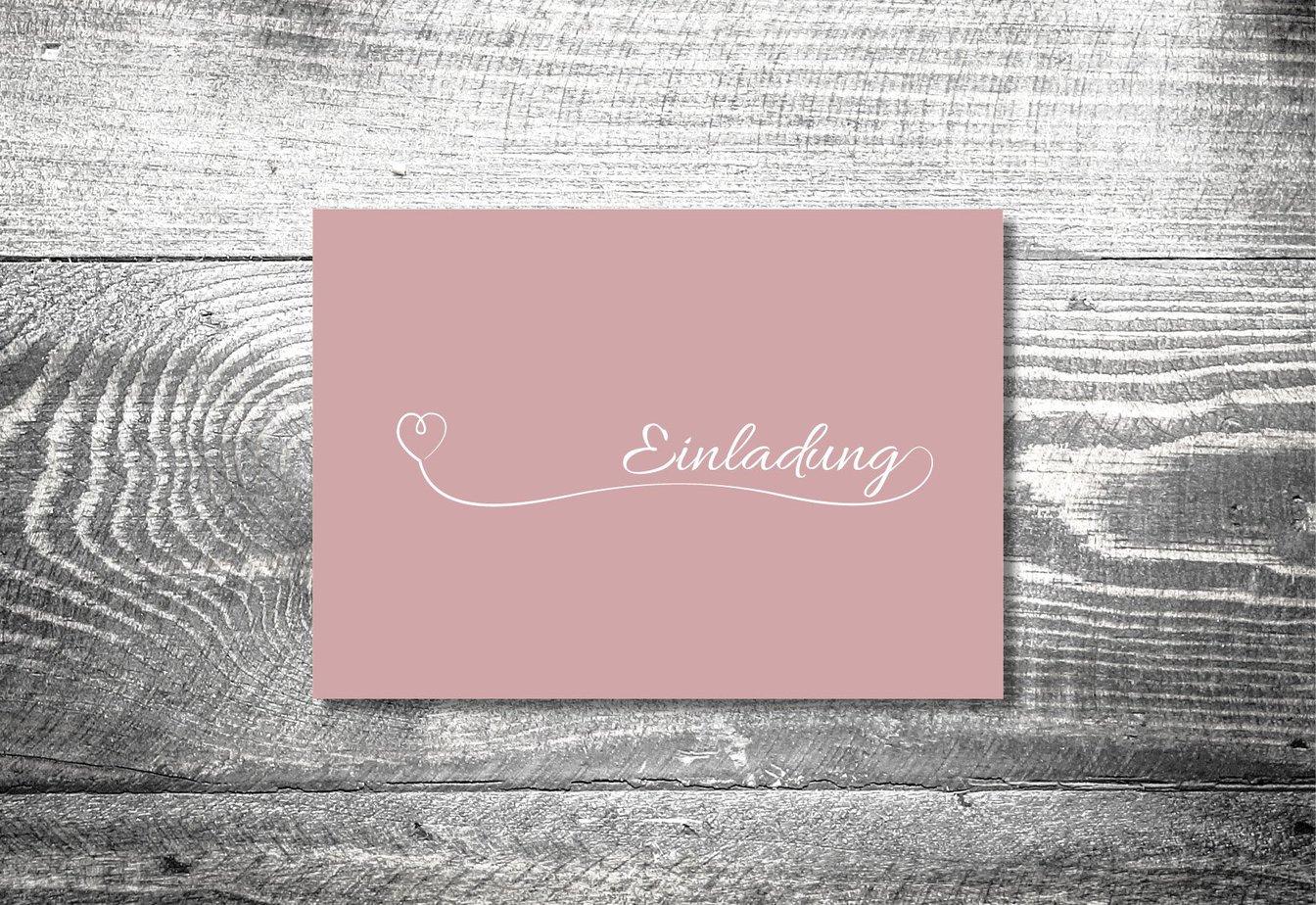 kartlerei 148x105 hochzeit einladungskarte4 - Hochzeitskarten Set