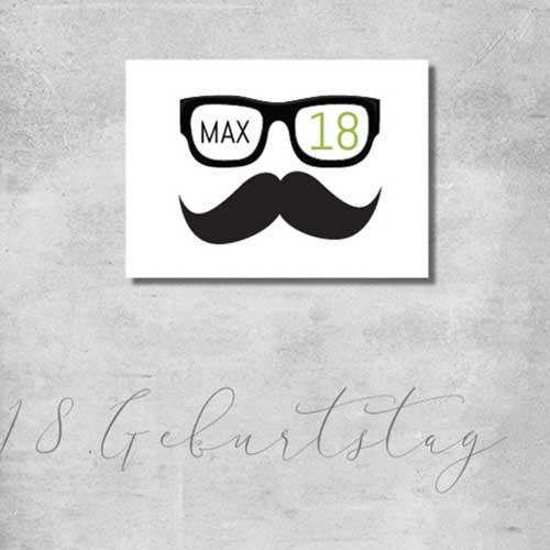 kartlerei geburtstag einladungskarte 18geburtstag - Geburtstagseinladung