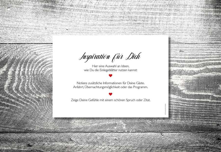 kartlerei karten drucken einladungskarten hochzeit einlegeblaetter - Hochzeitspapeterie – Unser Magazin
