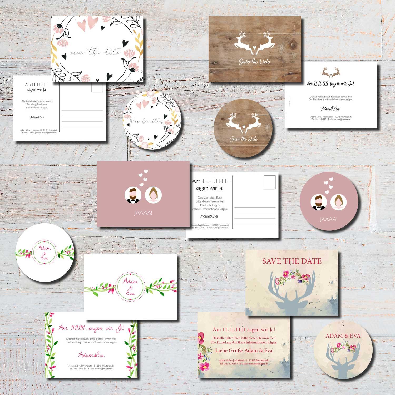 save the date heiraten hochzeit kartlerei karten bierdeckel drucken - Hochzeitskarten