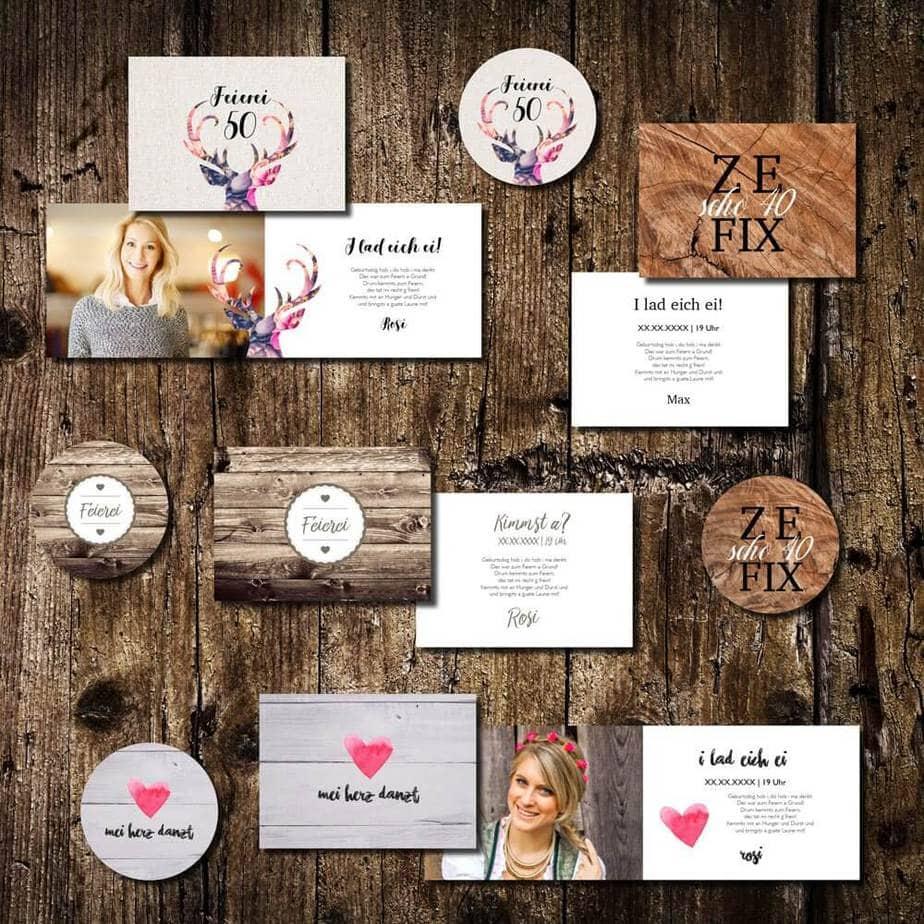 geburtstagskarten kartlerei einladungskarten bayrisch bierdeckel drucken - Einladungskarten Geburtstag Text