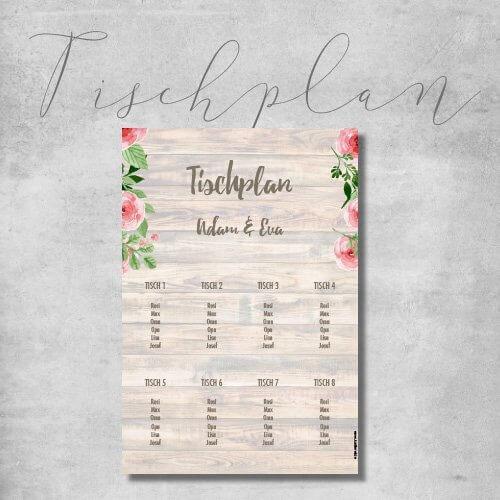 kartlerei hochzeit tischplan sitzplan - Hochzeitskarten