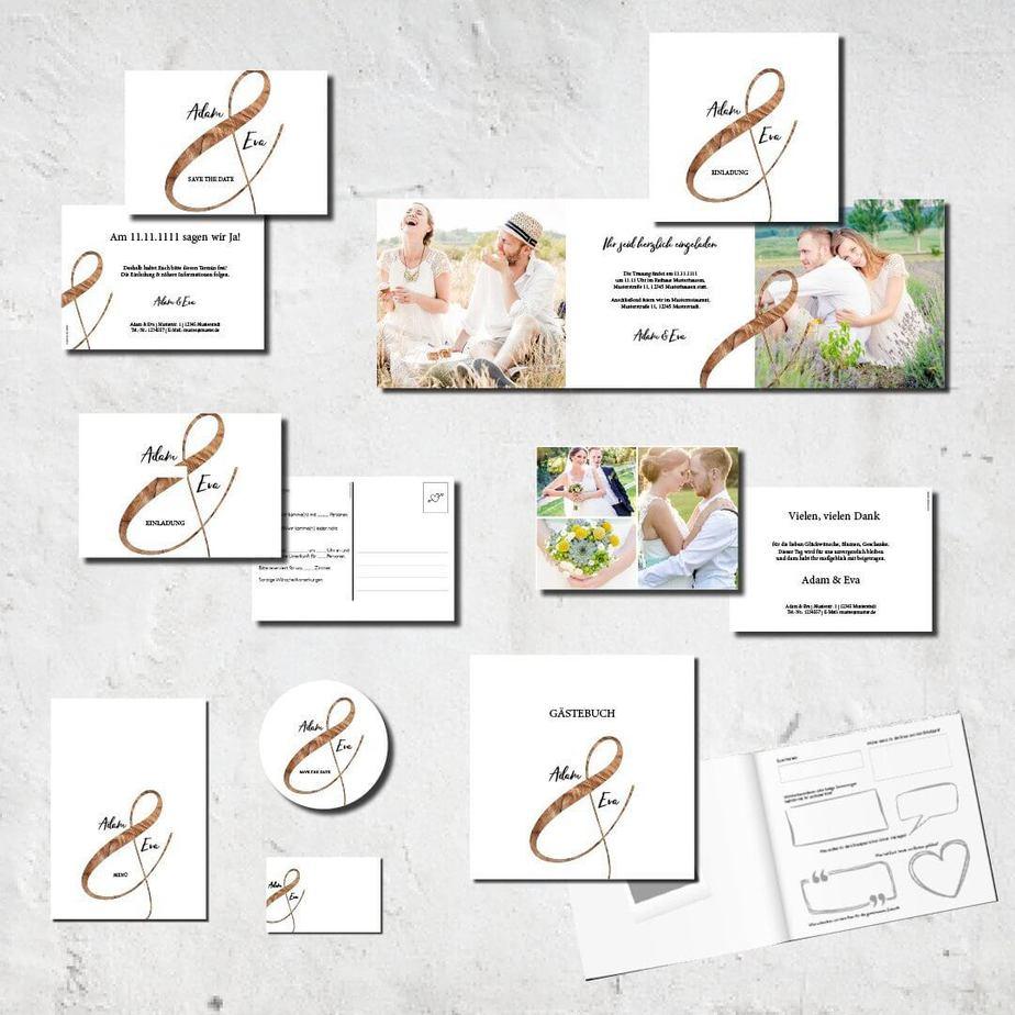 hochzeits set kartlerei karten drucken bierdeckel menuekarten gaestebuch dankeskarten hochzeit 20183 - Hochzeitskarten Set – Alles muss perfekt sein!