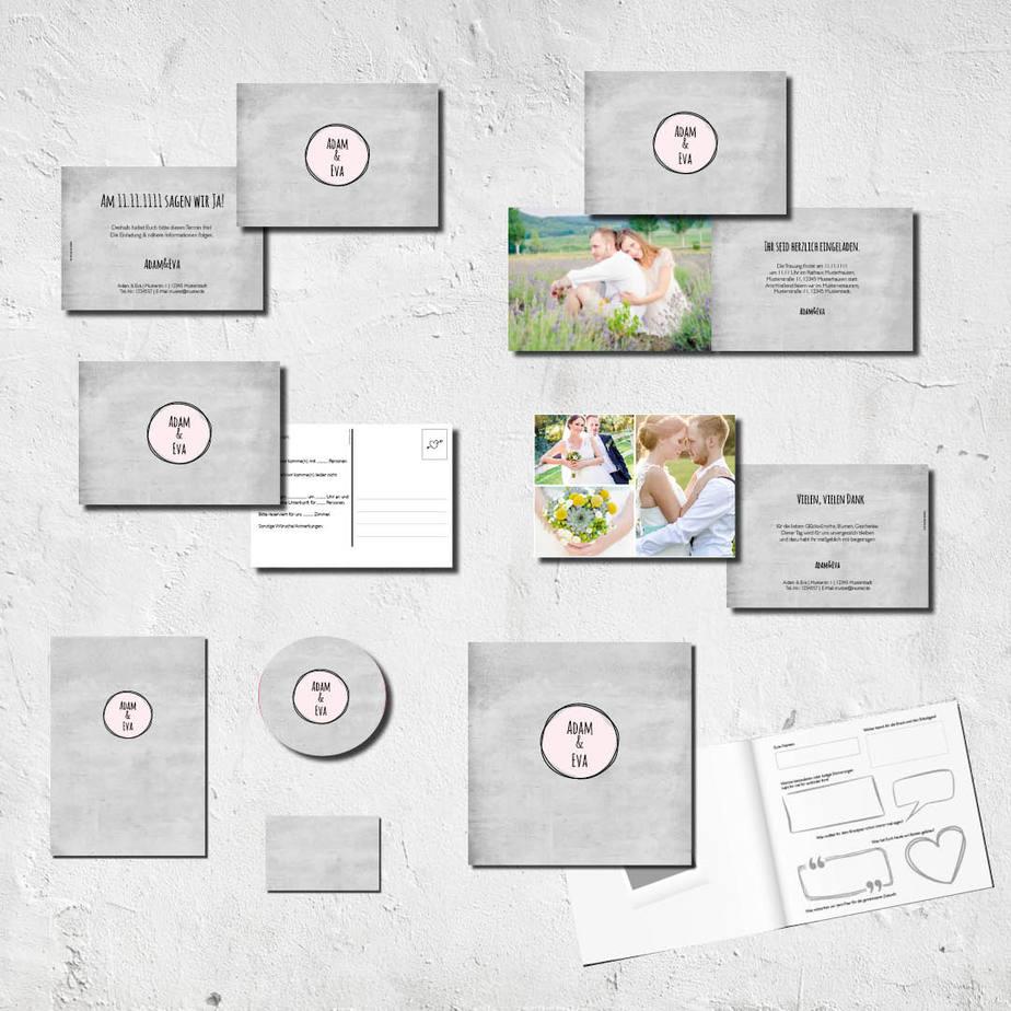 hochzeits set kartlerei karten drucken bierdeckel menuekarten gaestebuch dankeskarten hochzeit - Hochzeitskarten Set – Alles muss perfekt sein!