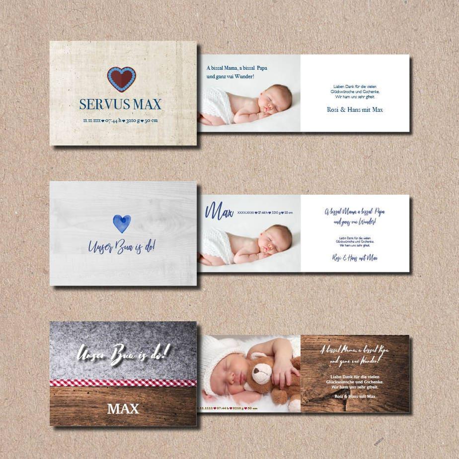 kartlerei bayrische geburtskarten baby kind karten drucken gestalten 2.jpg - Geburtskarten auf Bayrisch