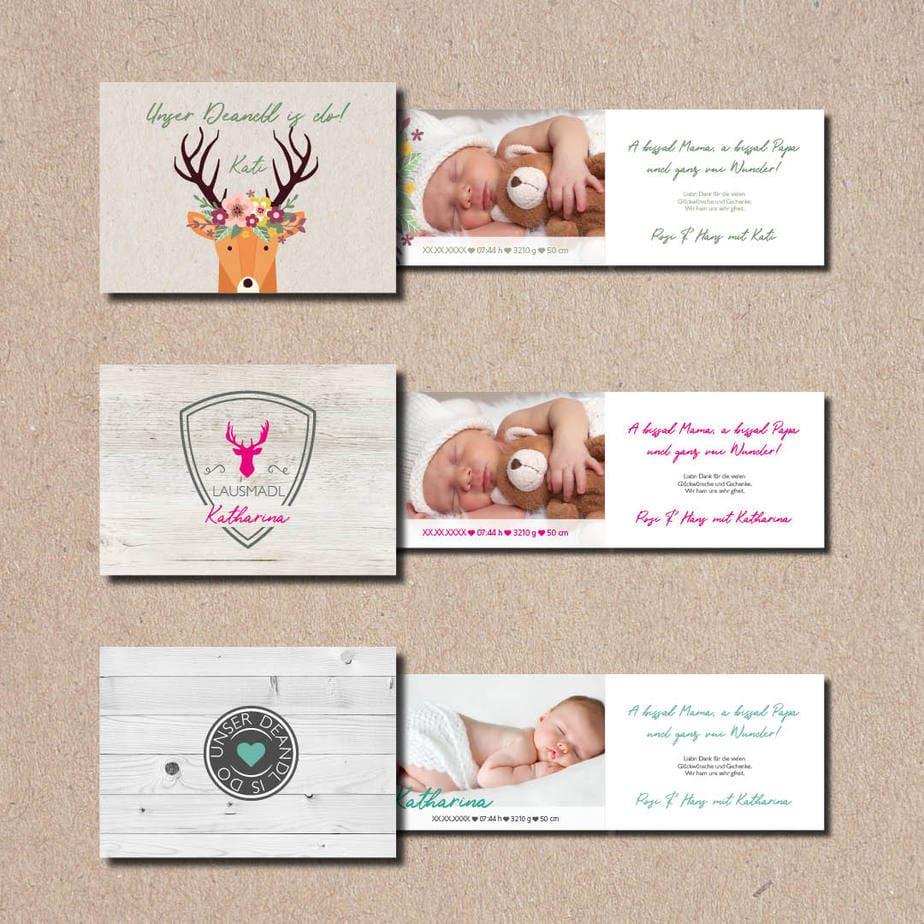 kartlerei bayrische geburtskarten baby kind karten drucken gestalten 3.jpg - Geburtskarten auf Bayrisch