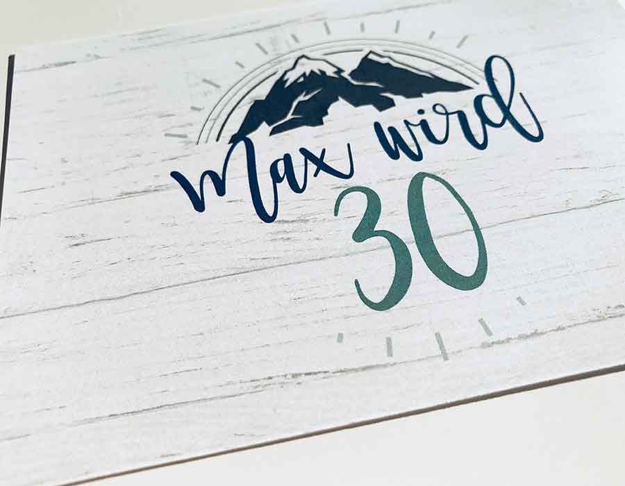 kartlerei einladungskarten drucken und gestalten papier 300g glaenzend - Papiersorten