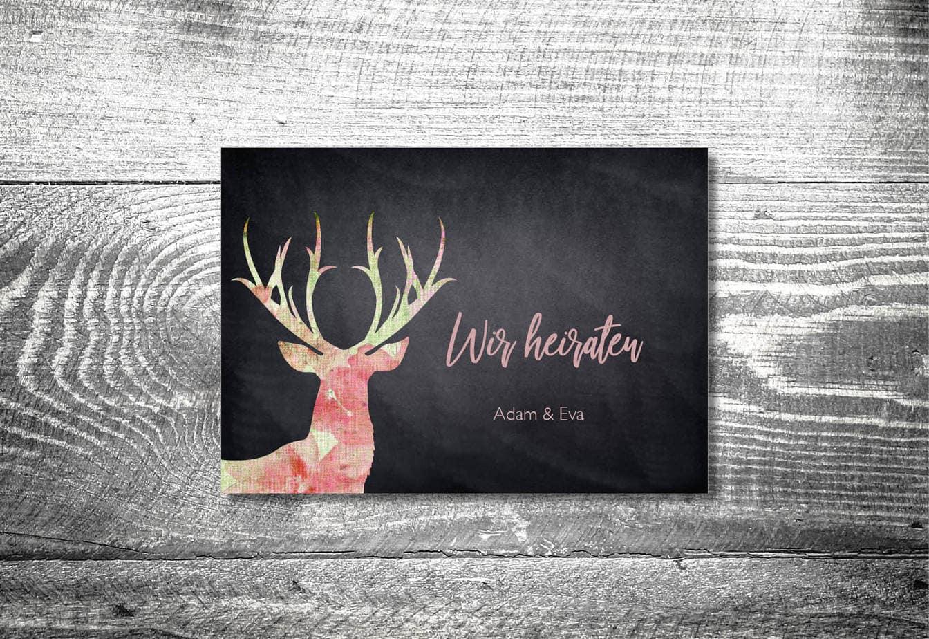 kartlerei karten drucken hochzeitseinladung heiraten bayrisch heimatgefuehl leinenhirsch einladung - Hochzeitscountdown Freebie