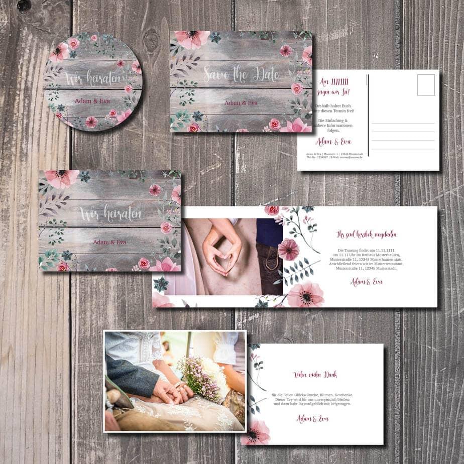 trachtenhochzeit heiraten in tracht kartlerei blumenholz - Geburtstagseinladung auf Bayrisch
