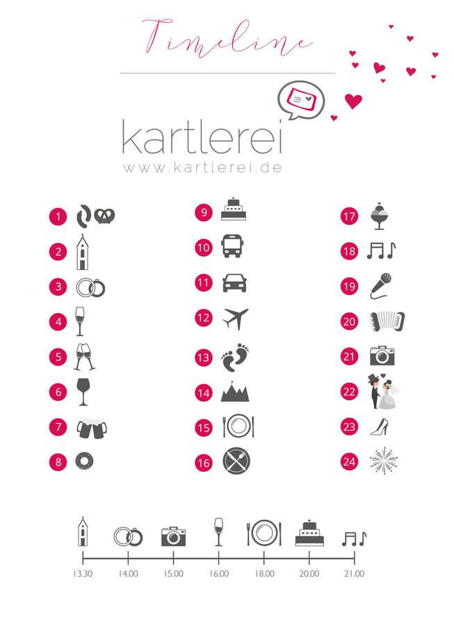 timeline icons kartlerei - Timeline Hochzeit